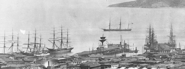 Panorama of San Francisco, 1878 [detail]