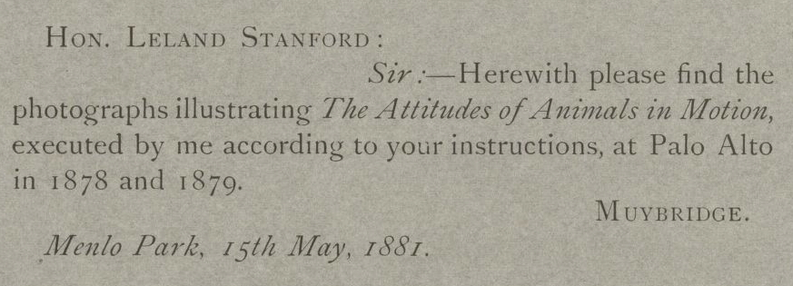 Attitudes of Animals in Motion (1881) at Stanford Digital Repository (1/3)